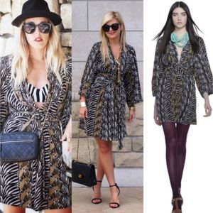 Banana Republic Issa London Zebra Kimono Dress